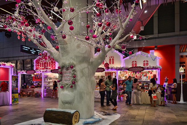 Pink Christmas at Orchard Central, Singapore