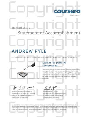 """Cousera Certificate"""
