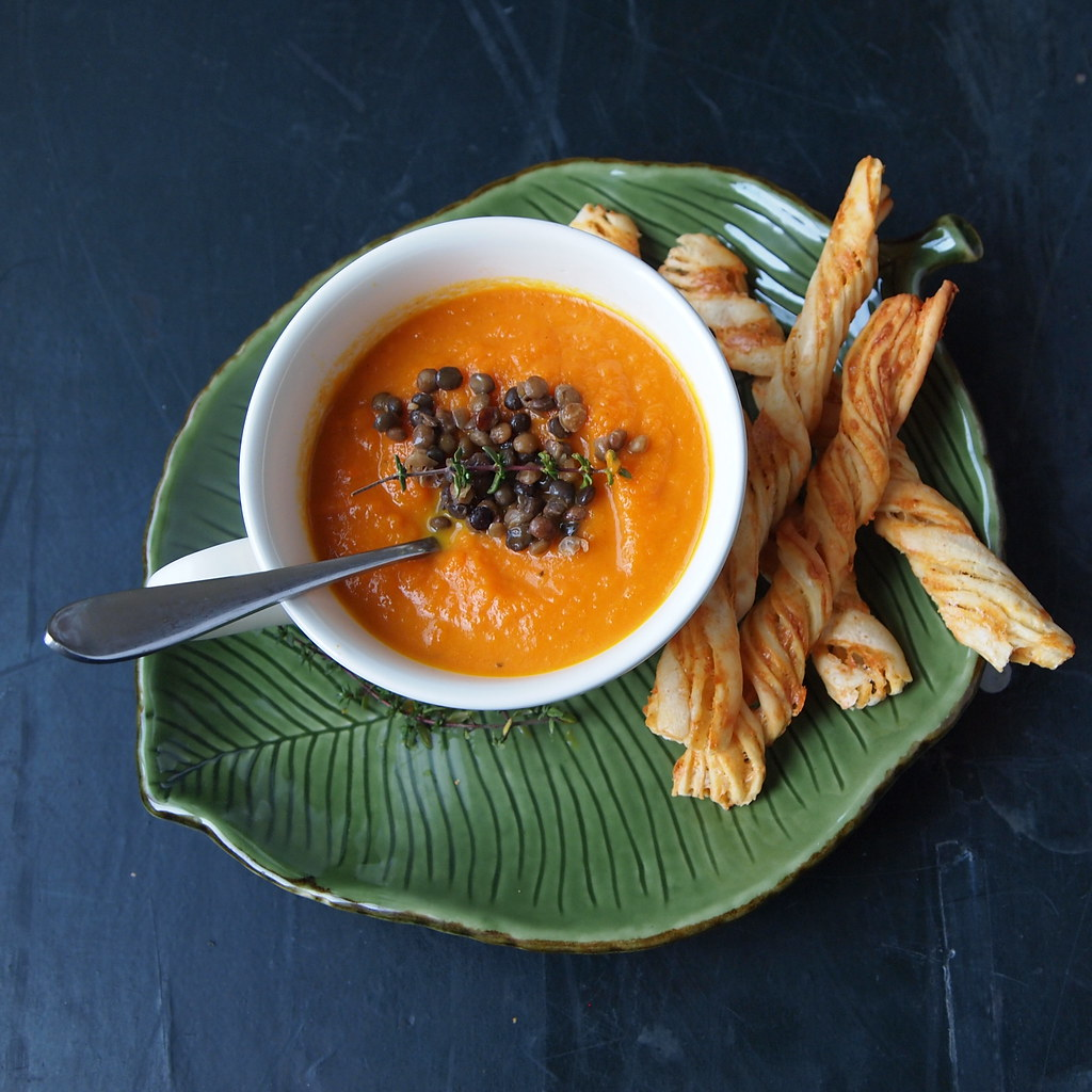 and J Eats: Roasted Carrot Soup with Cumin & Thyme
