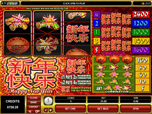Happy New Year Slot Machine