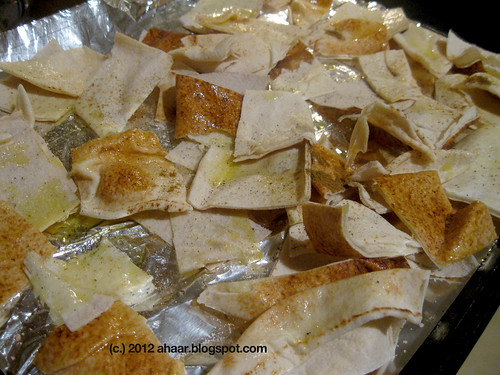 Spicy Pita chips