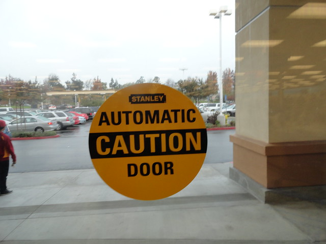 Caution automatic door flickr photo sharing