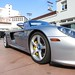 Porsche Carrera GT in GT Silver Metallic in Beverly Hills California front 3/4