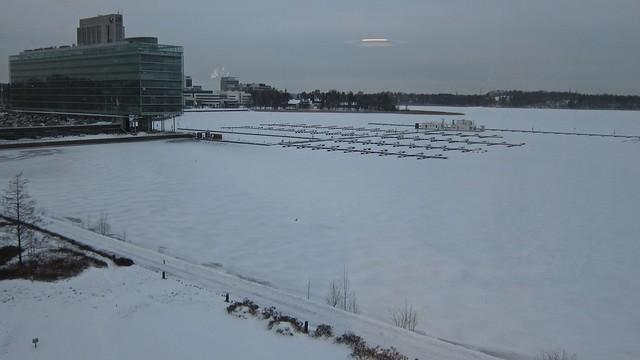 El mar congelado junto a Helsinki