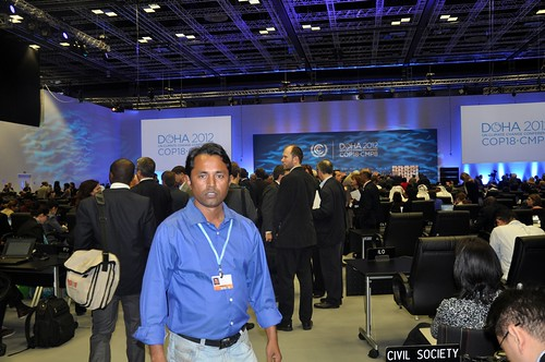 sanjoy chaki at UN Climate change Conference 2012