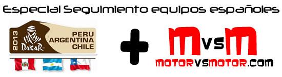 Especial Dakar 2013 seguimiento MotorVSMotor