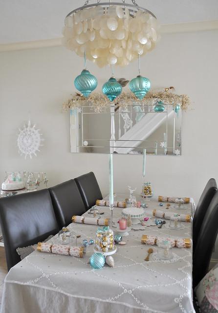 Setting up my Christmas table