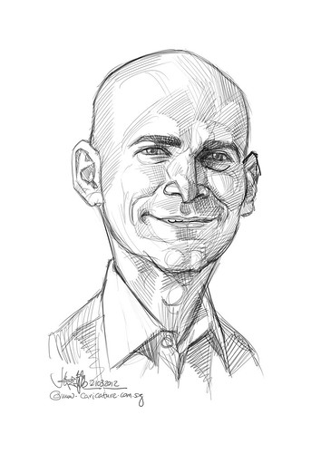 digital caricature of Ronen Samuel for Hewlett Packard (revised) - 2