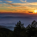 Sunset over The Troodos Mountains