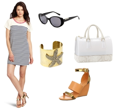 nautical outfits - striped dress