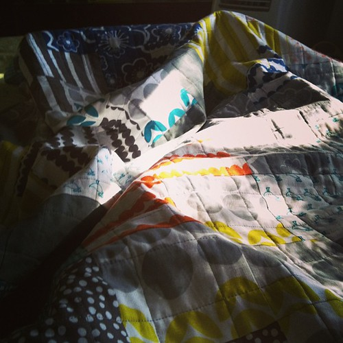 Happiness is snuggling under a patchwork quilt. Thanks again @buttontreelane