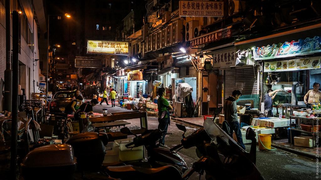 Ночные улицы Гонконга