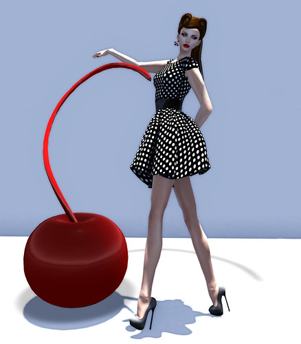 SS Mesh Retro Polka Dots for Acid Lily by Miss Laylah Lecker