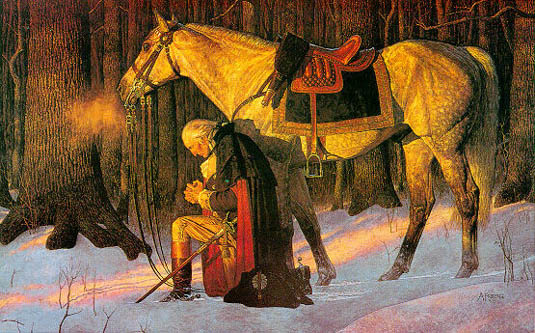 george washington-praying