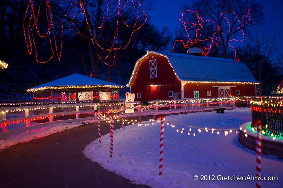 Holiday Lights on the Farm