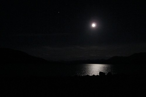 Moon and Lake Tekapo