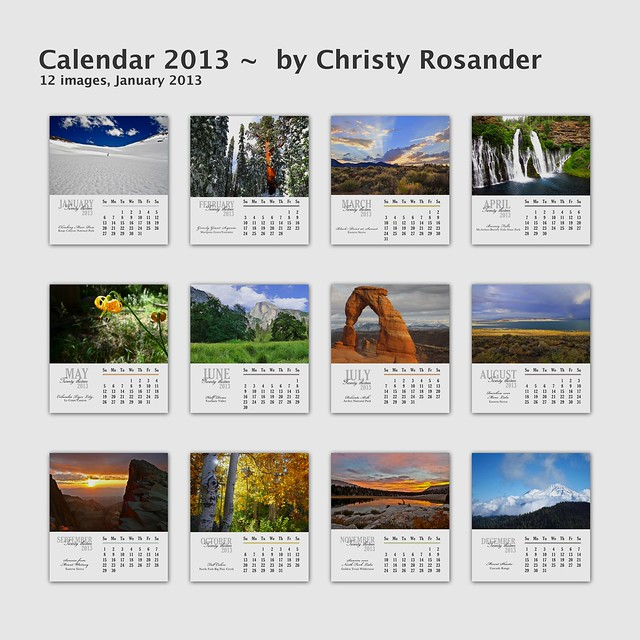 Calendar Front with Monthly Thumbnails