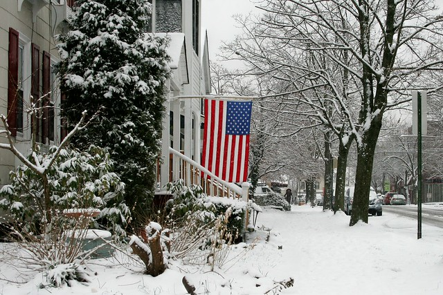 American Pride On Such A Winter's Day