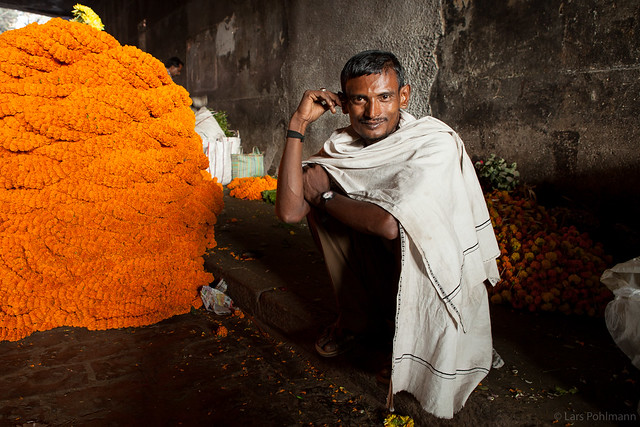 Flowerseller in Kolkata