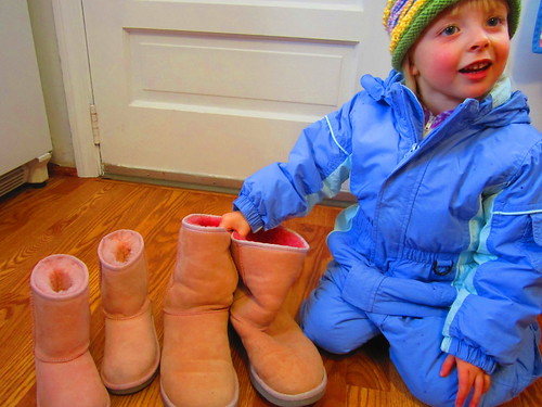 mother daughter Ugg boots pink