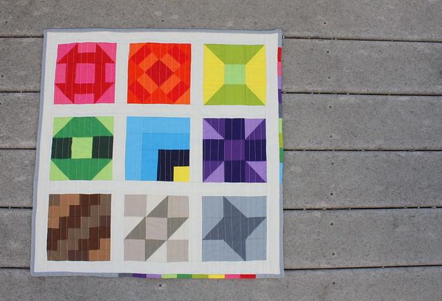 Kona Solid FWQA mini quilt