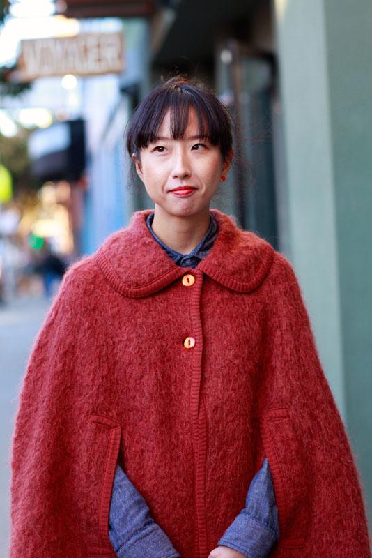 emiko_closeup street style, street fashion, women, San Francisco, Valencia Street