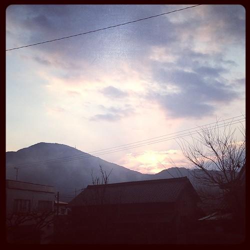 2013年元旦の筑紫富士。明けまして、おめでとうございます。