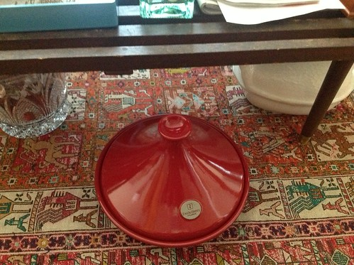 My new tagine, which gets to live under my coffee table. #cityliving