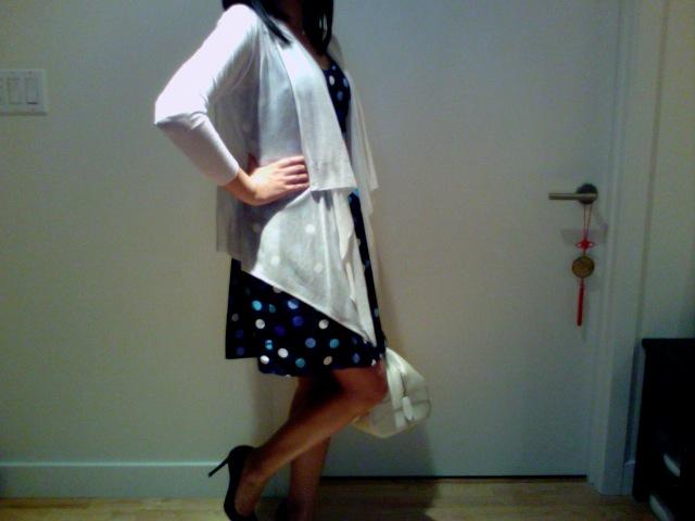 Aqua Polka dot dress