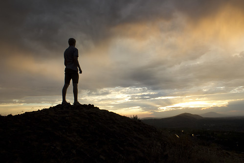 sunset portrait sky mountain silhouette self washington view kennewick