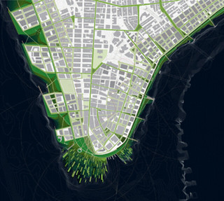 a concept for a more resilient lower Manhattan (courtesy of dlandstudio)
