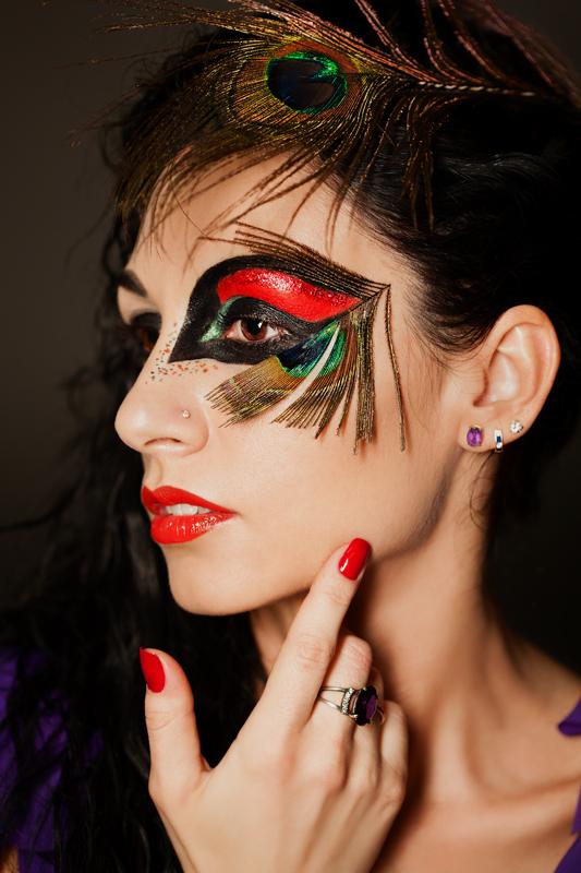 Фотосессия с фантазийным макияжем