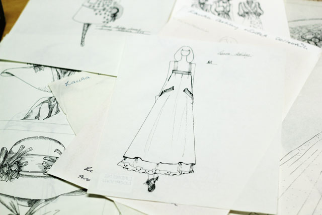 Laura Ashley sketch design