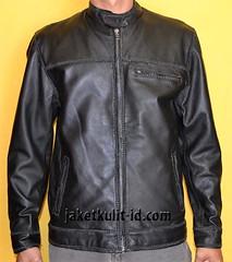 textile(1.0), leather jacket(1.0), clothing(1.0), leather(1.0), jacket(1.0),