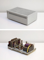 Braun CV 11 power amplifier | with and without metal case
