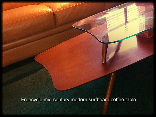 eames era surfboard coffee table