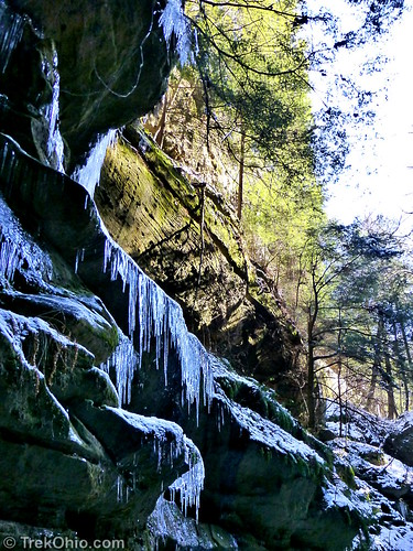 Icicles above