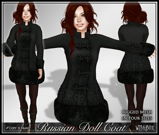 Russian Doll Coat (Black)