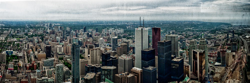 Toronto from CN Tower by Rey Cuba