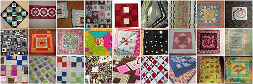 27 quilts for the first Project QUILTING Challenge - Square in a Square