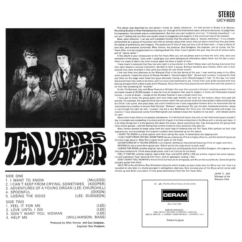 Ten Years After Lp Cover Art
