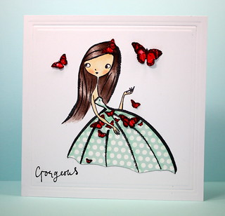 Gorgeous Butterfly Girl