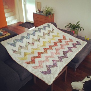 My Liberty chevron quilt is done!