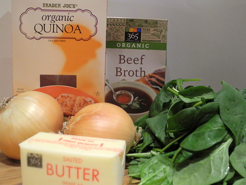 Onion Spinach Quinoa Ingredients