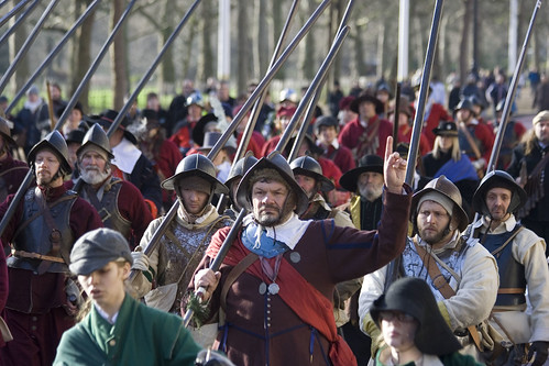 The King's Army marches along The Mall