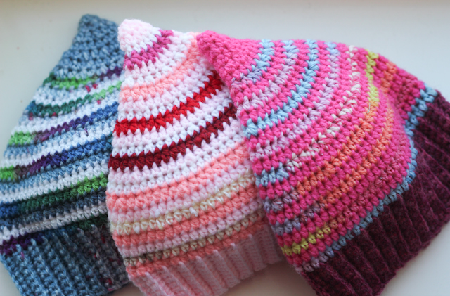 Scrap booster hats for babies