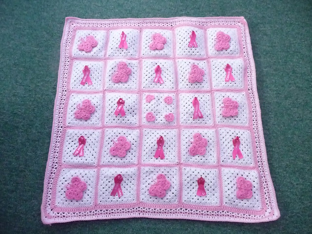 What a pretty Blanket and how kind of you 'jean nock' to make this one for us.  Think Pink (7).