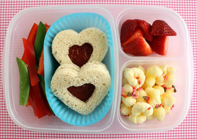 Preschooler Valentine's Bento #394