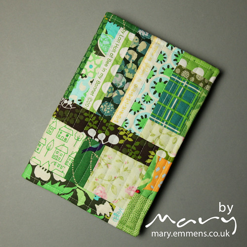 Patchwork journal cover - commission