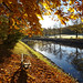 Autumn Bench by Canal by crush777roxx